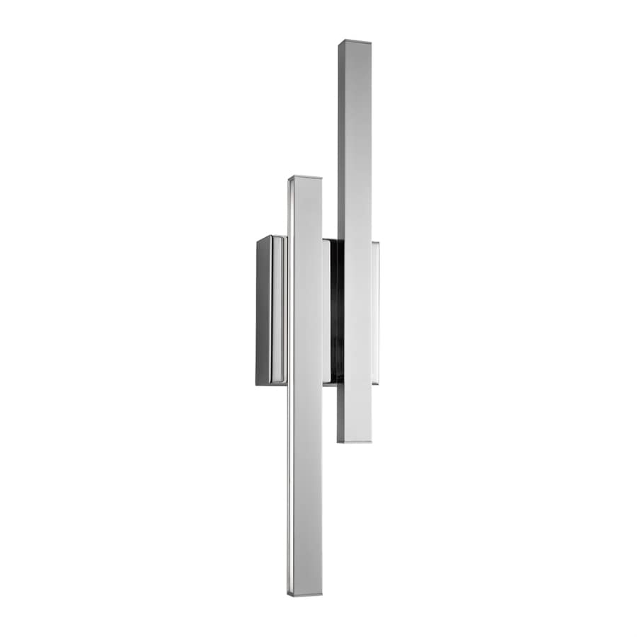 Elan Idril 4.75-in W 2-Light Chrome Wall Wash LED Wall Sconce