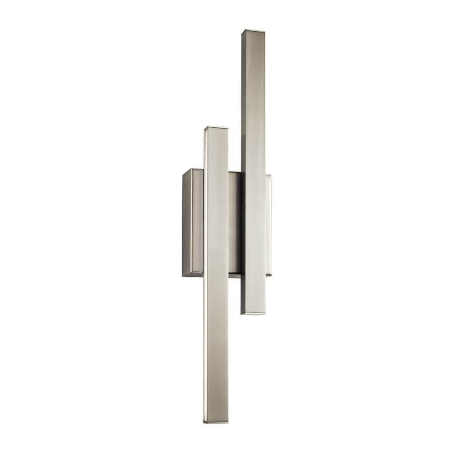Elan Idril 4.75-in W 2-Light Brushed Nickel Wall Wash LED Wall Sconce