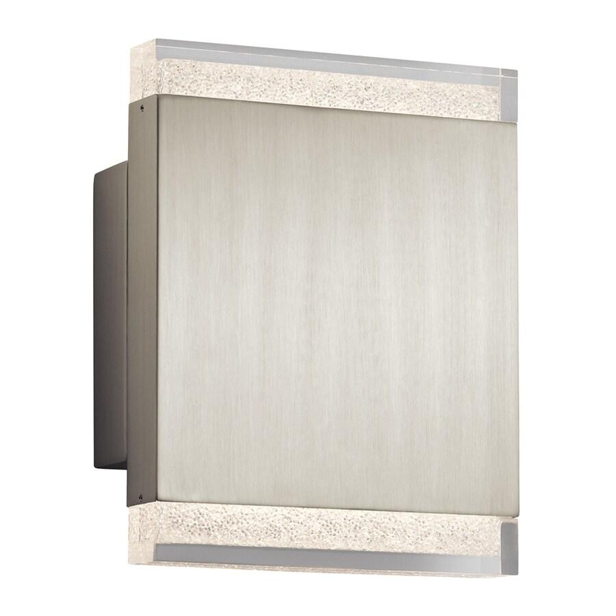 Elan Balta 7-in W 1-Light Brushed Nickel Wall Wash LED Wall Sconce