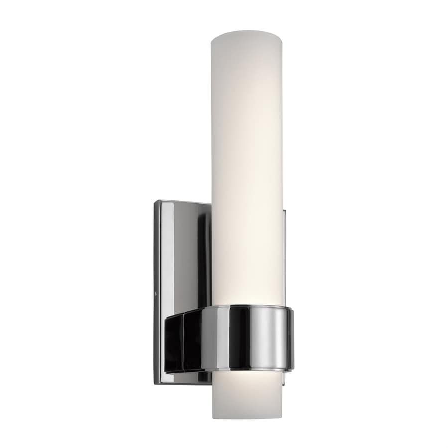 Shop Elan Izza 4.75-in W 1-Light Chrome Candle LED Wall Sconce at Lowes.com