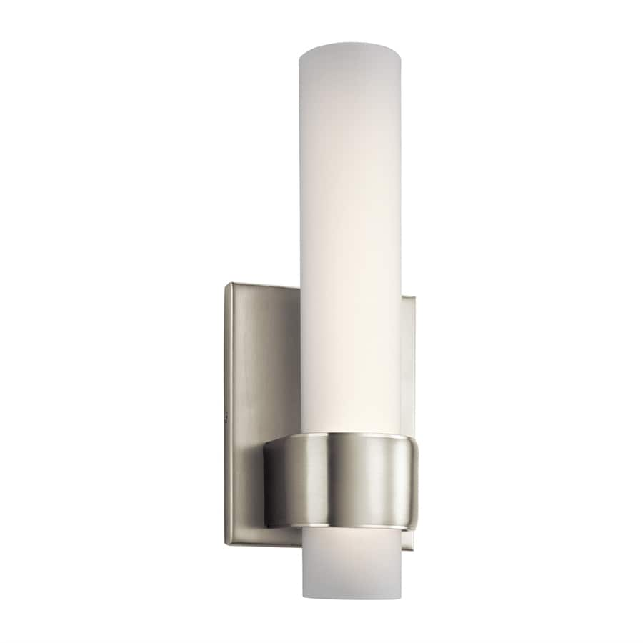 Candle Wall Sconces Brushed Nickel : Shop Elan Izza 4.75-in W 1-Light Brushed Nickel Candle LED Wall Sconce at Lowes.com
