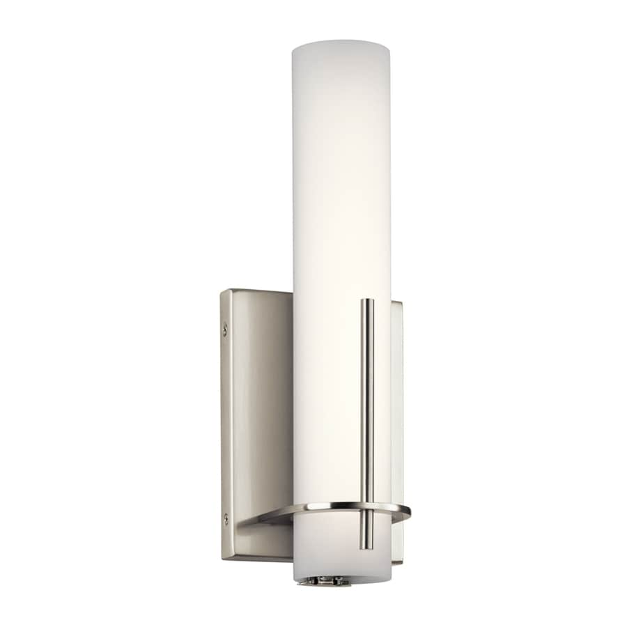 Candle Wall Sconces Brushed Nickel : Shop Elan Traverso 4.5-in W 1-Light Brushed Nickel Candle LED Wall Sconce at Lowes.com