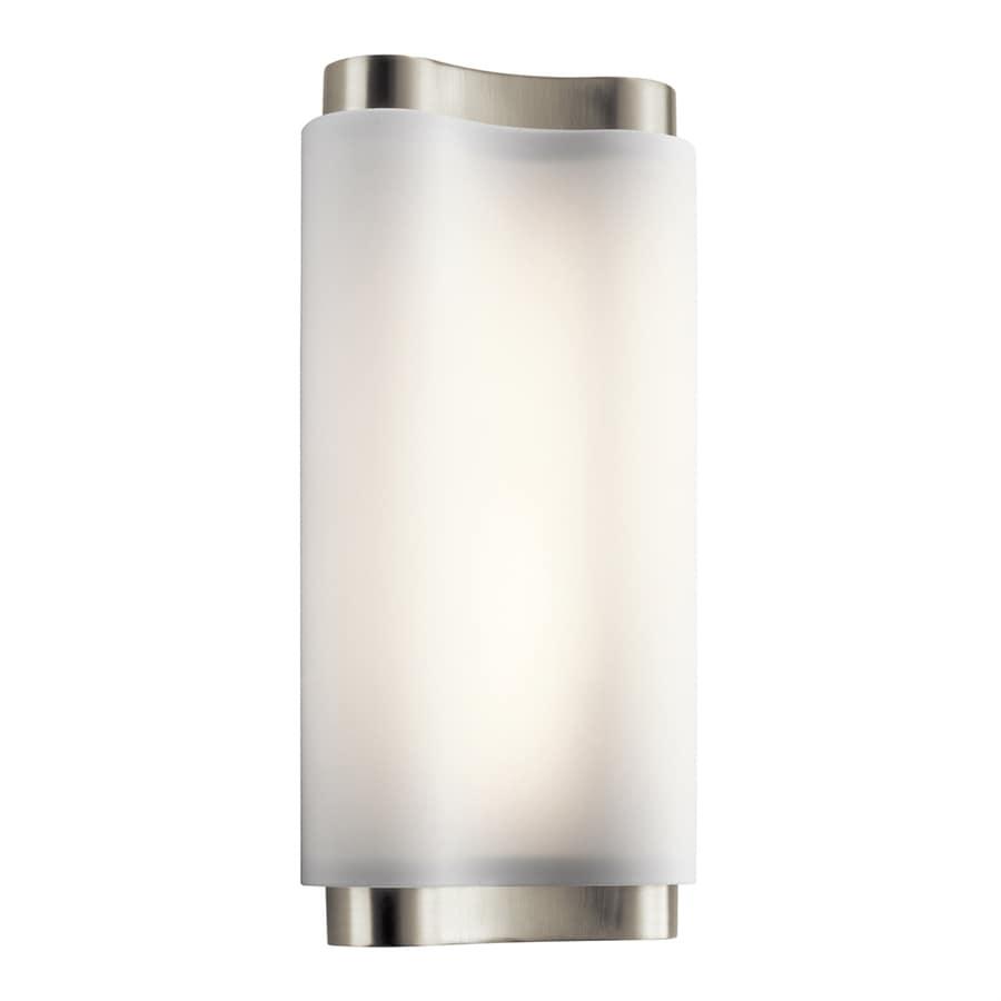 Elan Kaz 5.5-in W 1-Light Brushed Nickel Wall Wash LED Wall Sconce