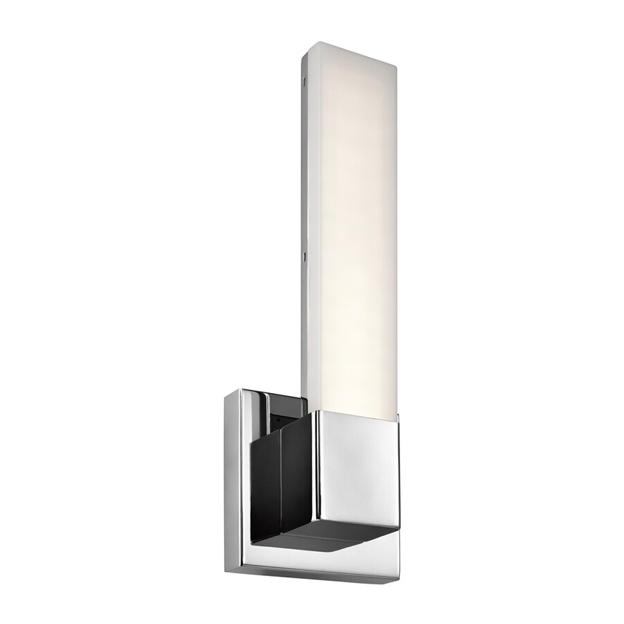 Shop Elan Neltev 5-in W 1-Light Chrome Candle LED Wall Sconce at Lowes.com