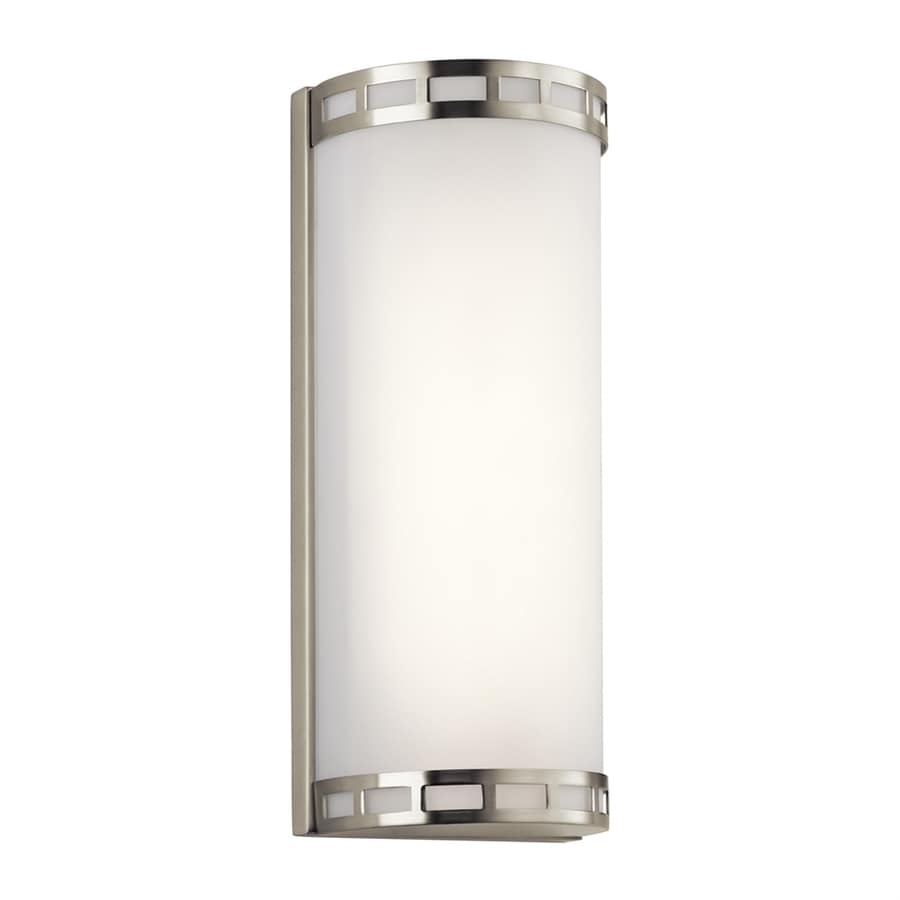 Elan Vivela 5.25-in W 1-Light Brushed Nickel Wall Wash LED Wall Sconce