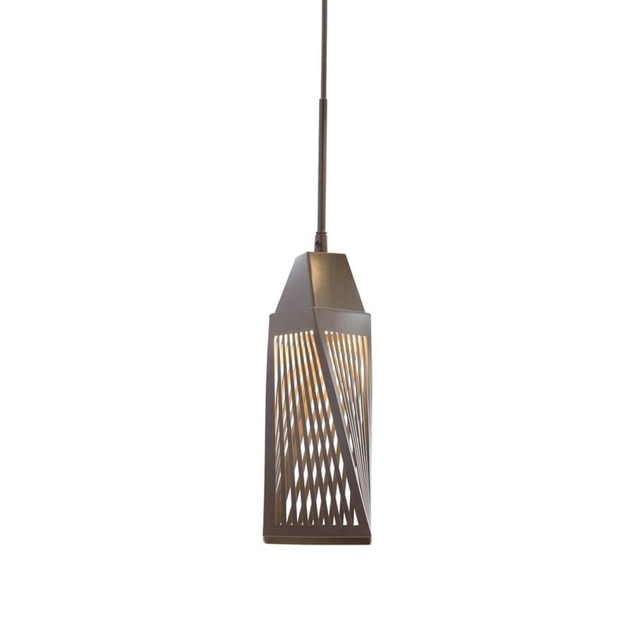 Elan Vitalina 4.61-in Architectural Bronze Hardwired Mini Geometric Pendant