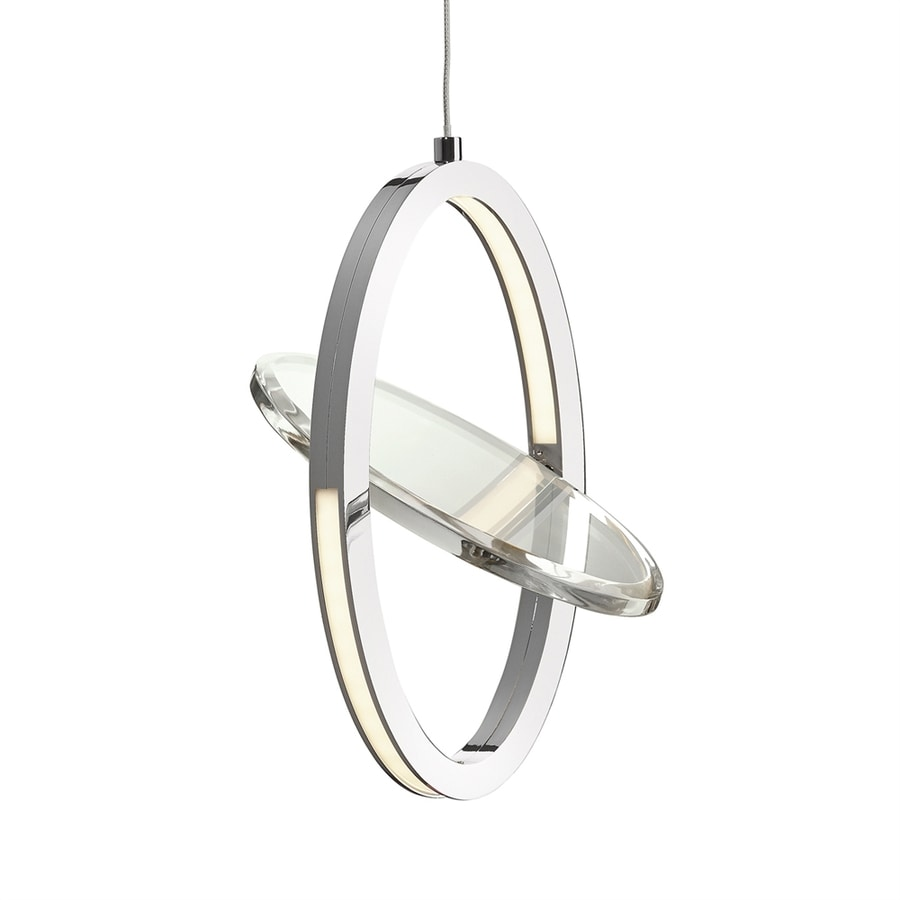 Elan Oliv 5.91-in Chrome Hardwired Mini Clear Glass Geometric Pendant