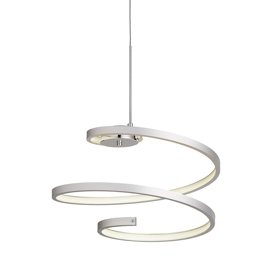 Elan Tintori 18.11-in Chrome Geometric LED Pendant