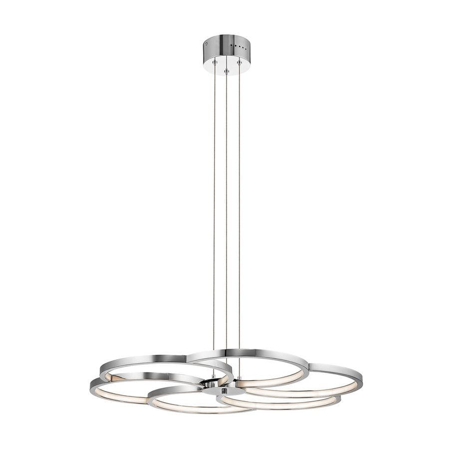 Elan Kurli 30.09-in Chrome Geometric LED Pendant