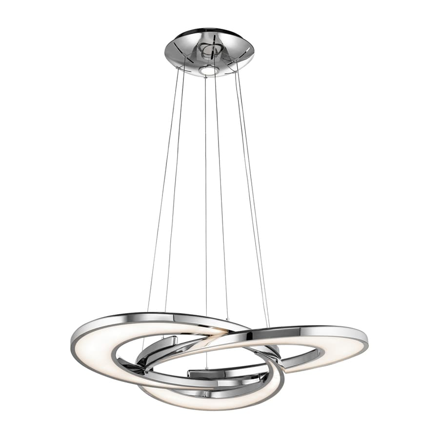 Elan Destiny 36.02-in Chrome Hardwired Single Geometric Pendant