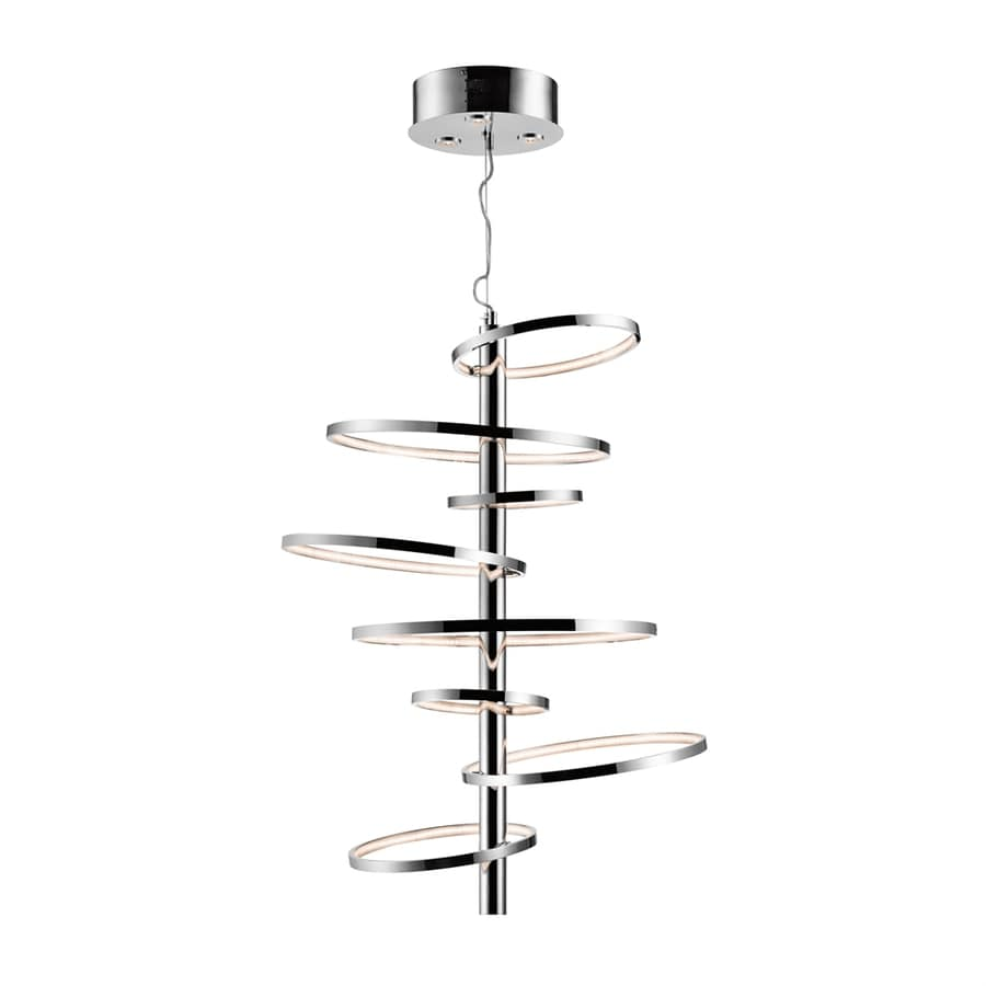 Elan Sirkus 30.63-in Chrome Hardwired Multi-Light Geometric Pendant