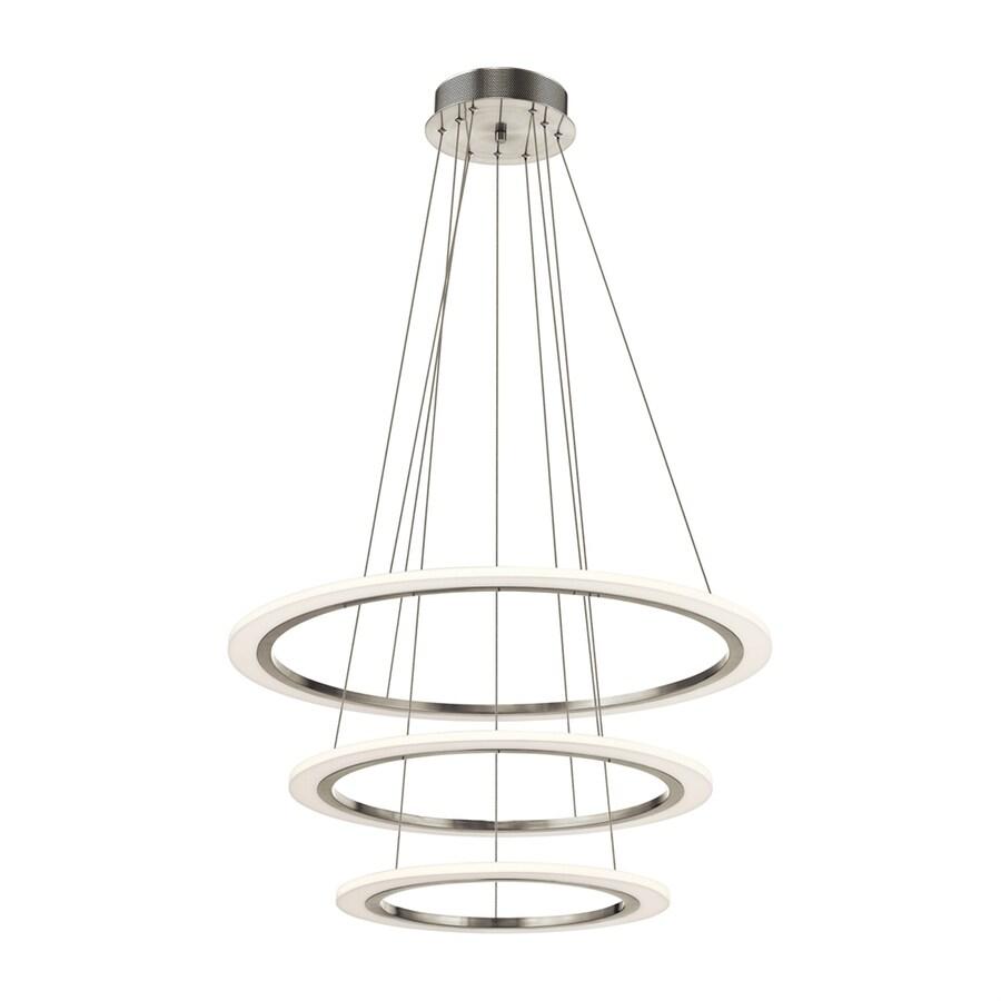 Elan Hyvo 32.68-in Brushed Nickel Geometric LED Pendant
