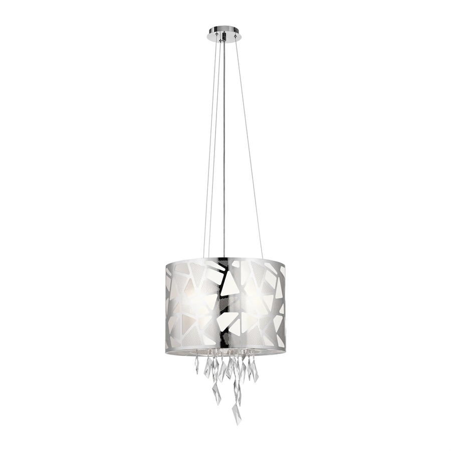 Elan Angelique 18.11-in Chrome Crystal Hardwired Single Drum Pendant