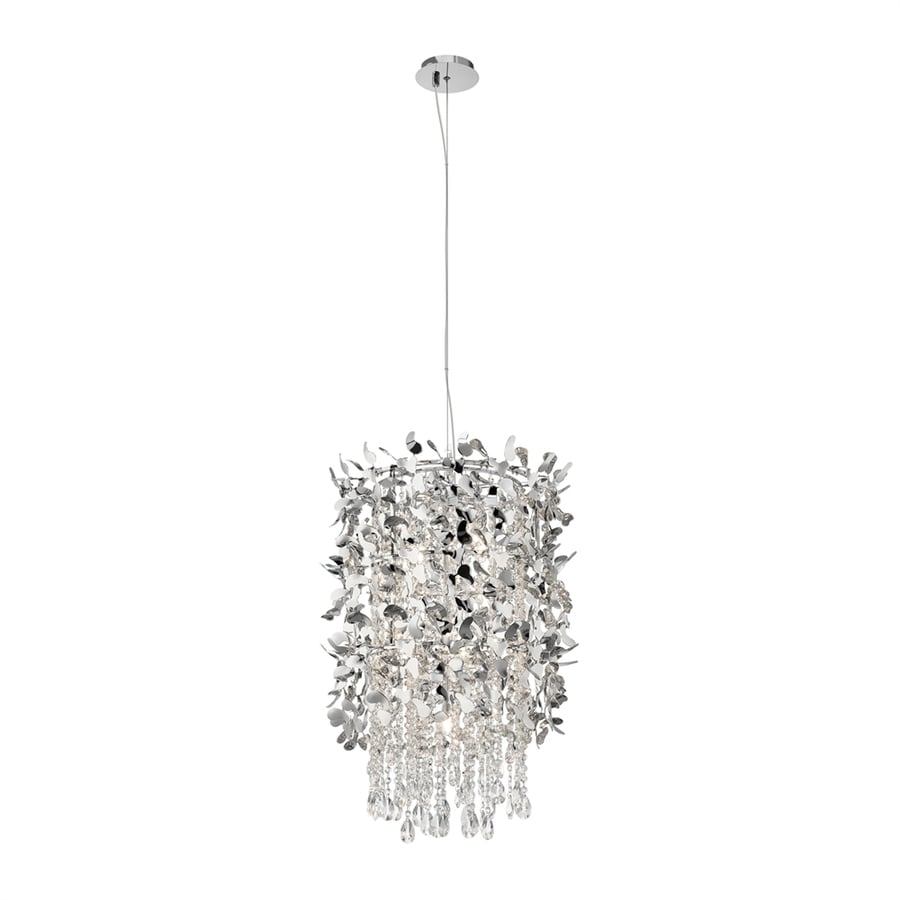 Elan Alexa 18-in Chrome Crystal Hardwired Single Cylinder Pendant