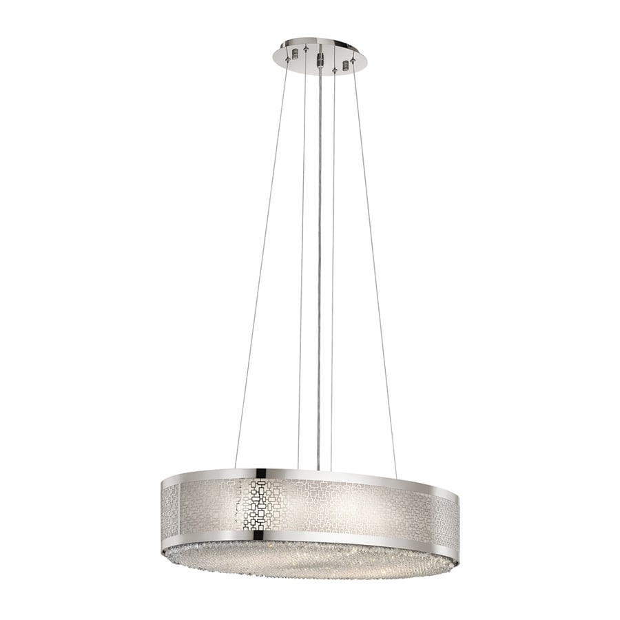 Elan Massimo 18.11-in Polished Nickel Hardwired Single Drum Pendant