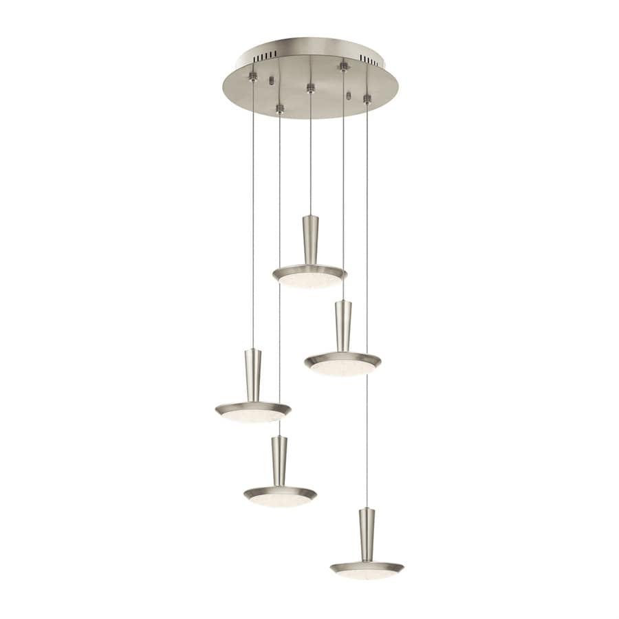 Elan Karah 17.74-in Brushed Nickel Multi-Light Bowl LED Pendant