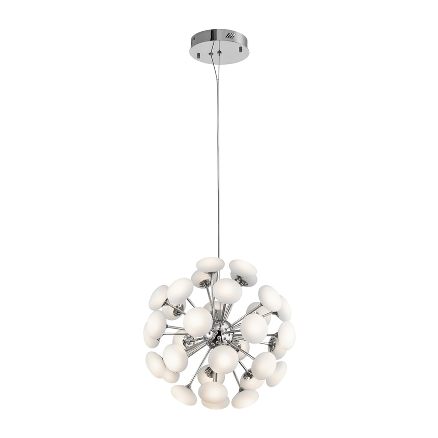 Elan Kotton 19.29-in Chrome Multi-Light Globe LED Pendant