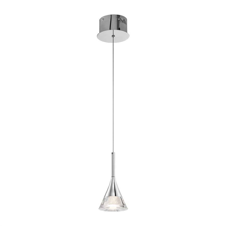 Elan Kabru 4.65-in Chrome Mini Cone LED Pendant