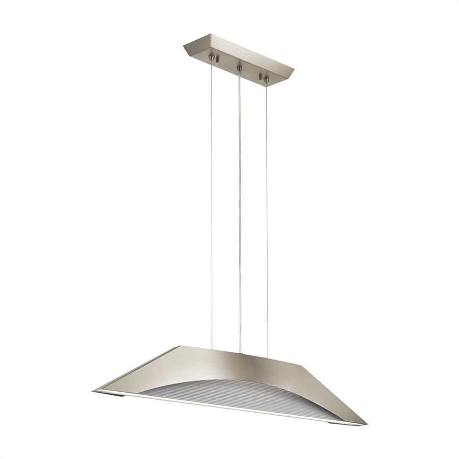 Elan Pandim 5.59-in Brushed Nickel Mini Geometric LED Pendant
