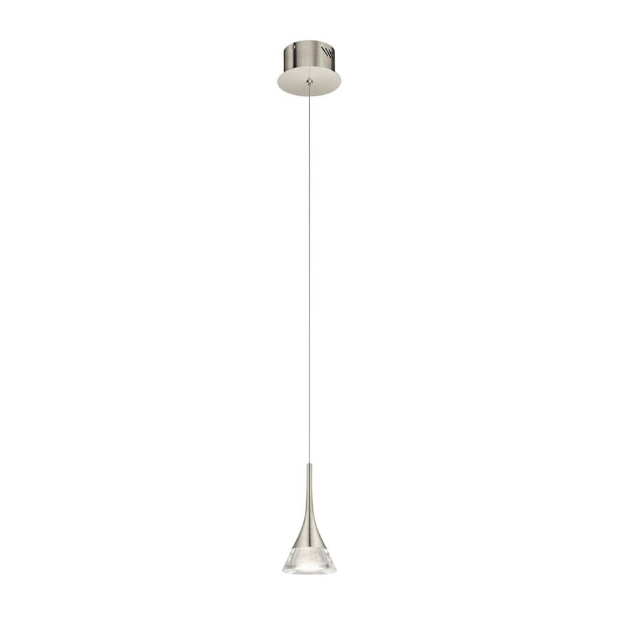 Elan Kabru 4.65-in Brushed Nickel Hardwired Mini Cone Pendant