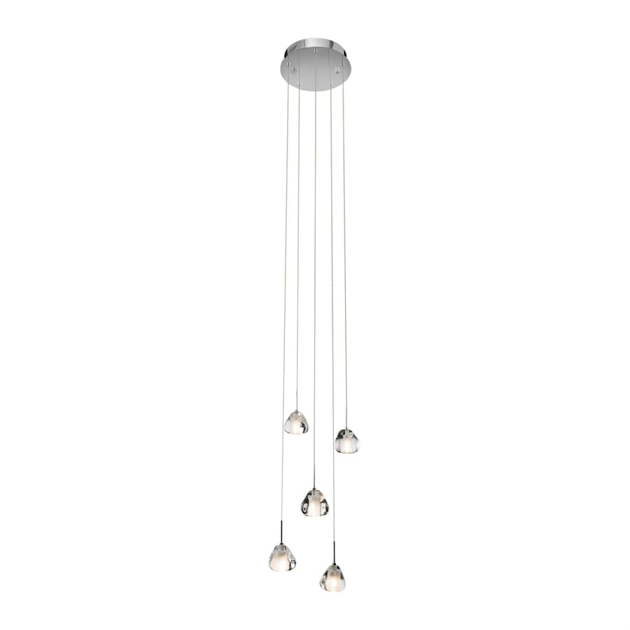 Elan Eisa 12.2-in Chrome Crystal Hardwired Multi-Light Teardrop Pendant