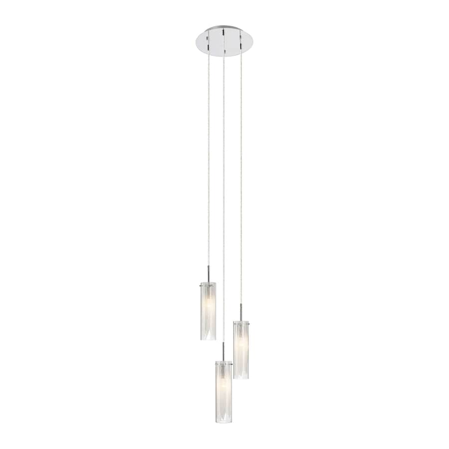 Elan Krysalis 11-in Chrome Hardwired Multi-Light Clear Glass Cylinder Pendant