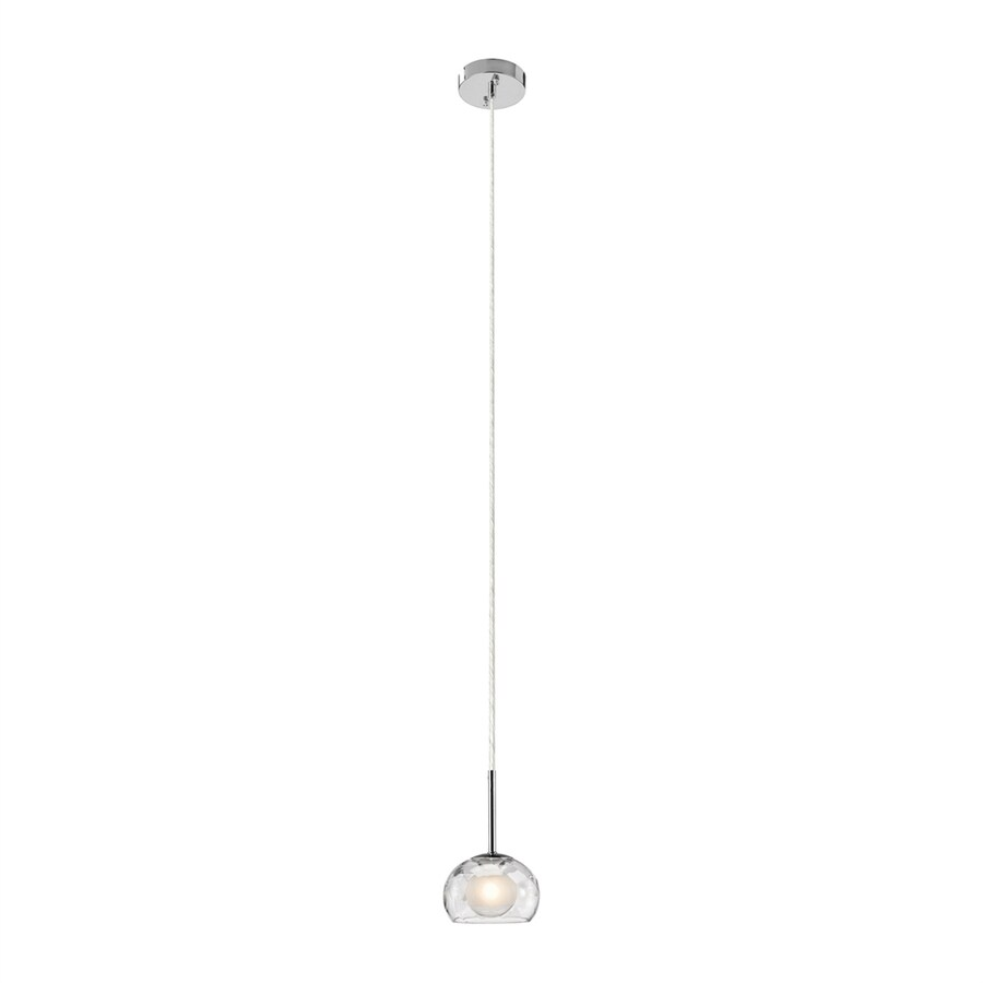 Elan Niu 5.5-in Chrome Hardwired Mini Clear Glass Dome Pendant