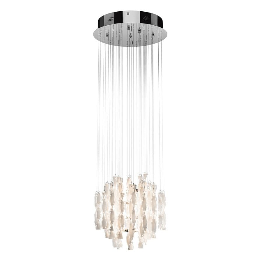 Elan 16.25-in Chrome Crystal Hardwired Multi-Light Clear Glass Pendant