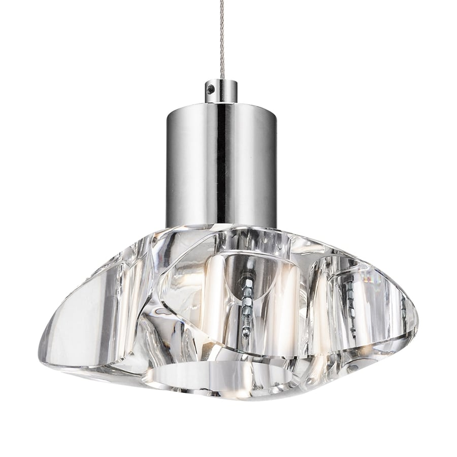 Elan Renzu 5-in Chrome Crystal Hardwired Single Pendant