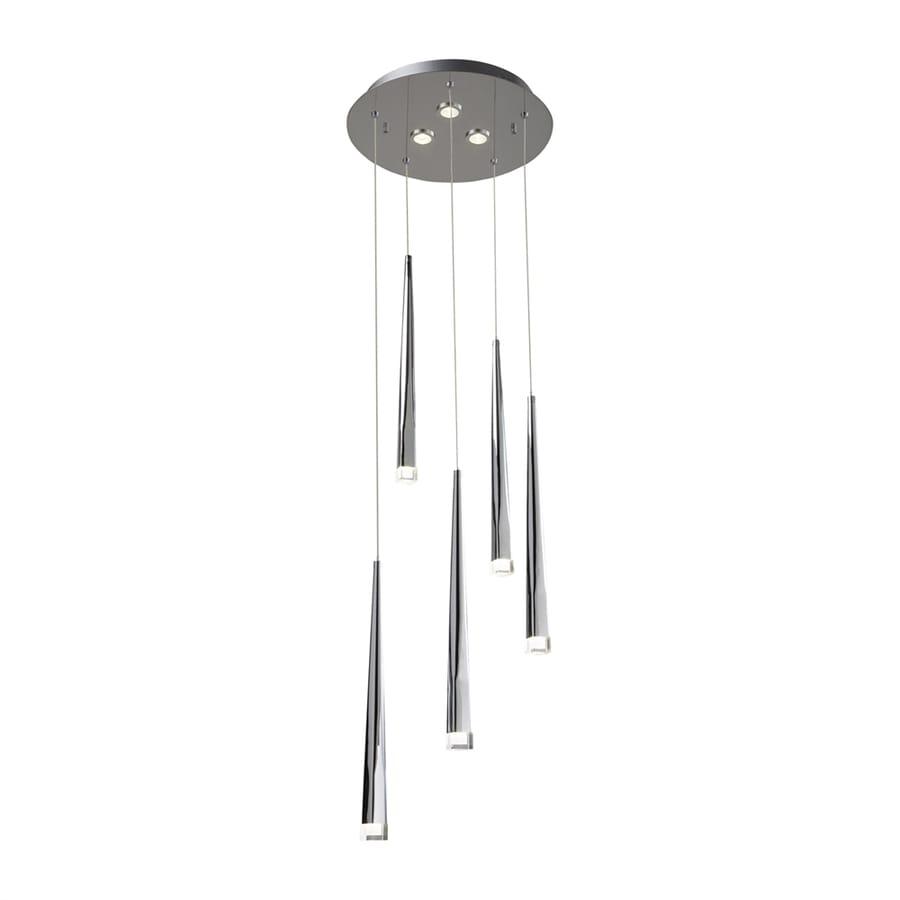 Elan Antonia 13.23-in Chrome Multi-Light Cone LED Pendant