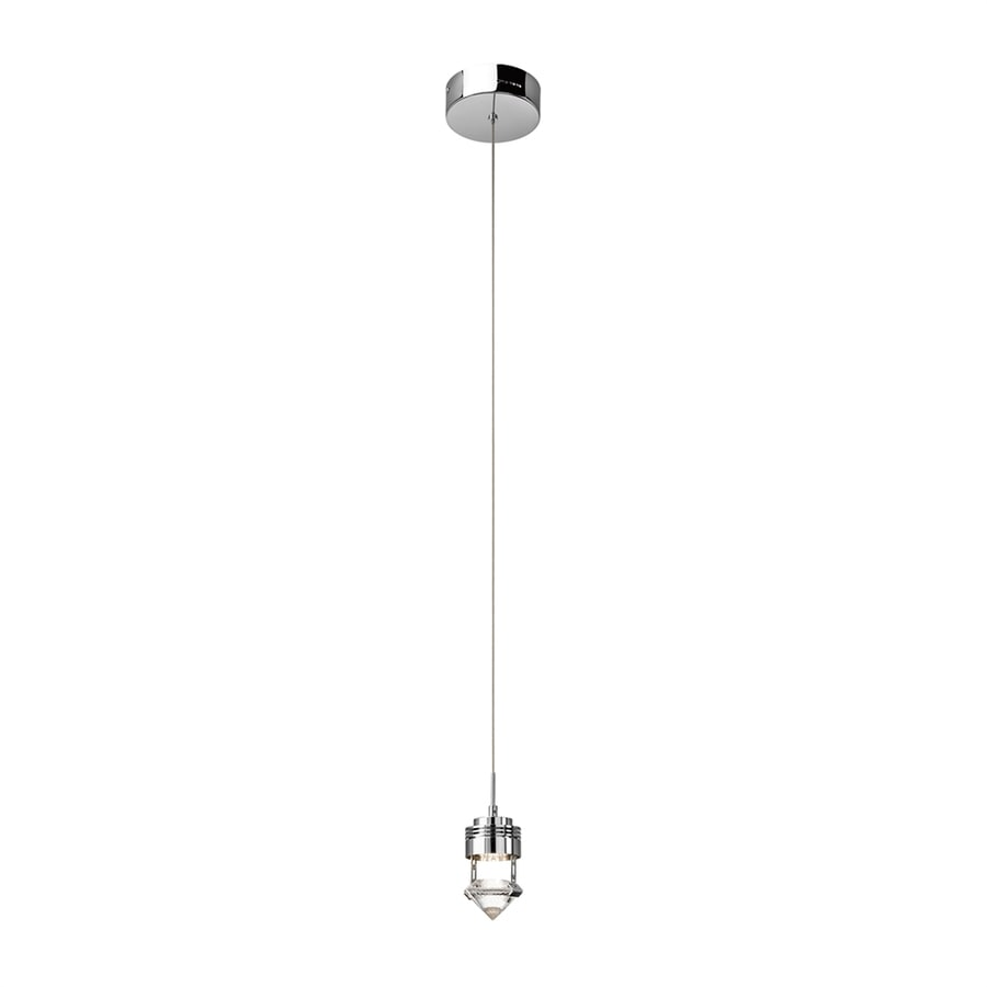 Elan Essex 3.25-in Chrome Mini Crystal Geometric LED Pendant