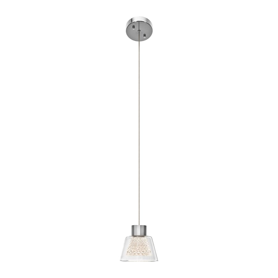Elan Ausa 4.5-in Chrome Hardwired Mini Clear Glass Square Pendant