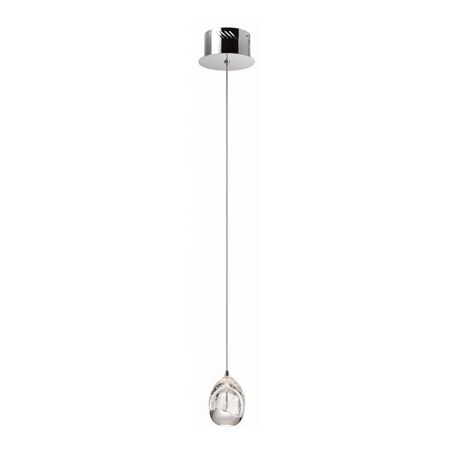 Elan Lavinia 3.54-in Chrome Mini Teardrop LED Pendant