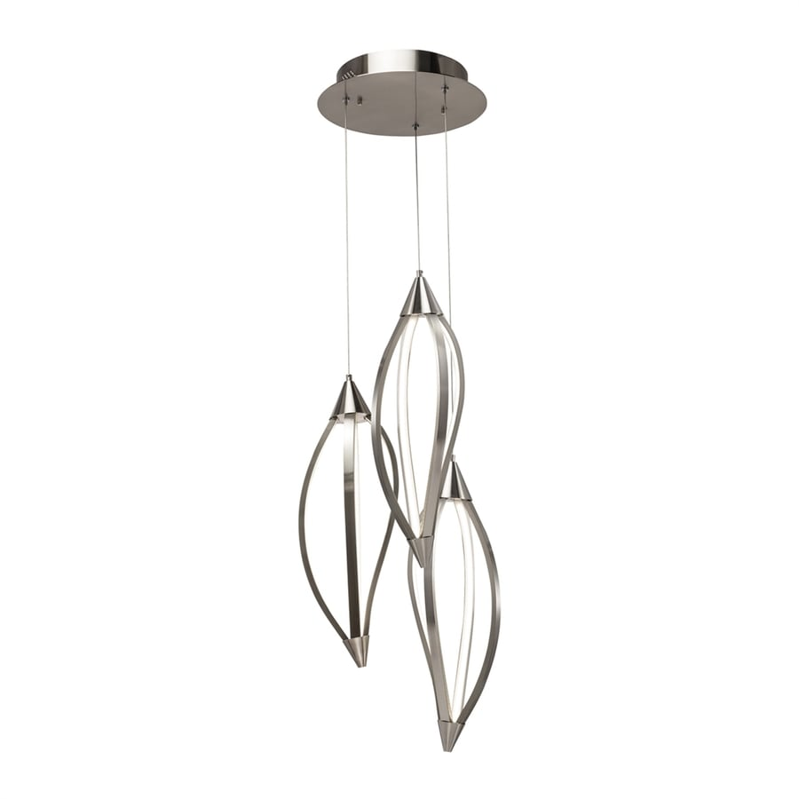Elan Meridian 28.75-in Brushed Nickel Multi-Light Geometric LED Pendant