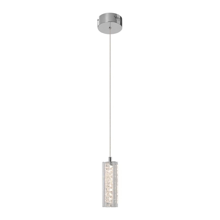Elan Neruda 2.36-in Chrome Hardwired Mini Crystal Cylinder Pendant