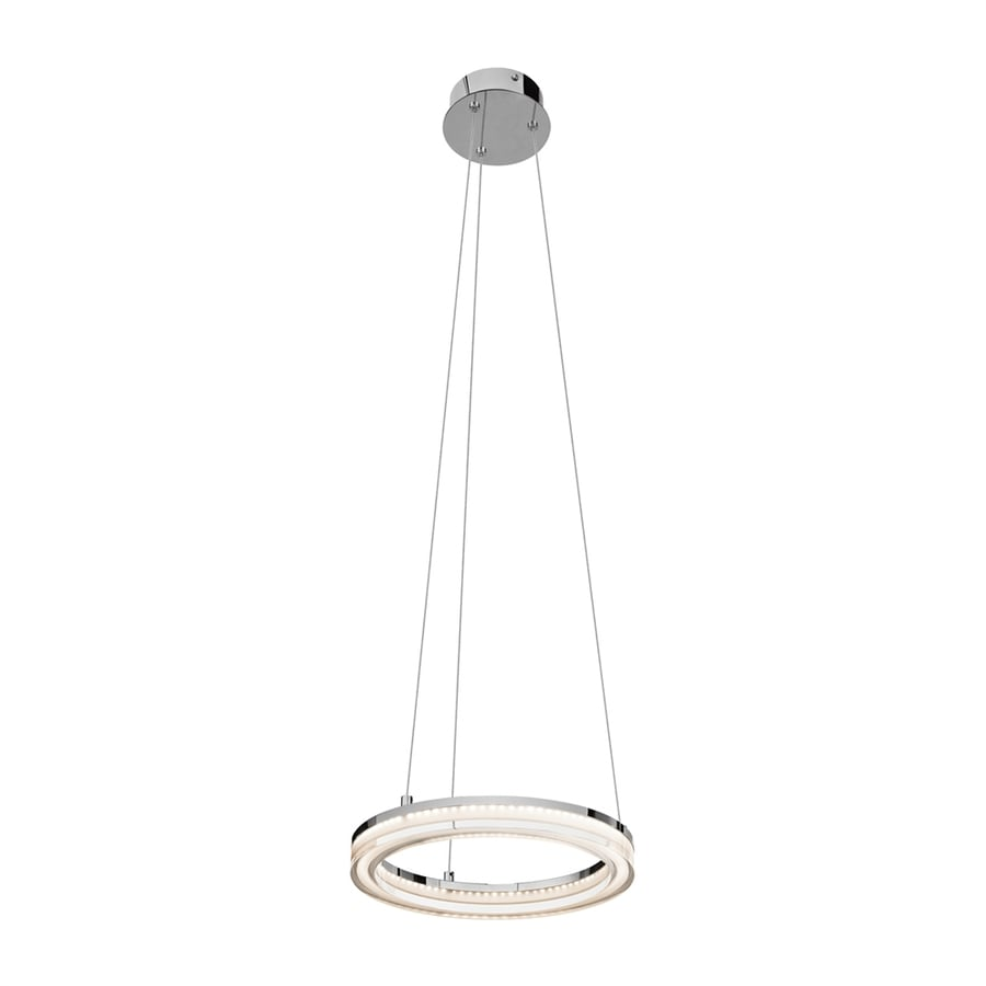 Elan Ithican 11.81-in Chrome Hardwired Single Oval Pendant