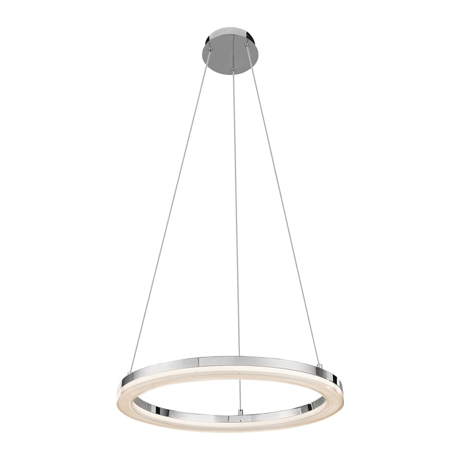 Elan Ithican 23-in Chrome Oval LED Pendant