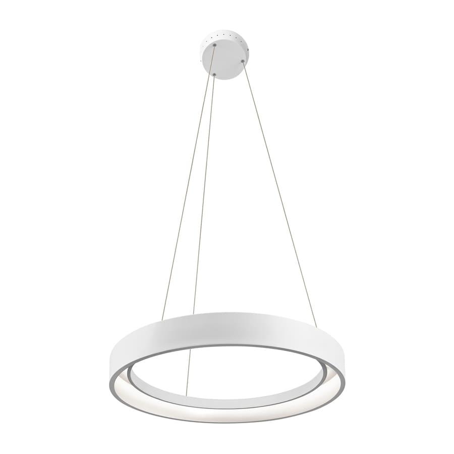 Elan Fornello 23.62-in Sand Textured White Oval LED Pendant