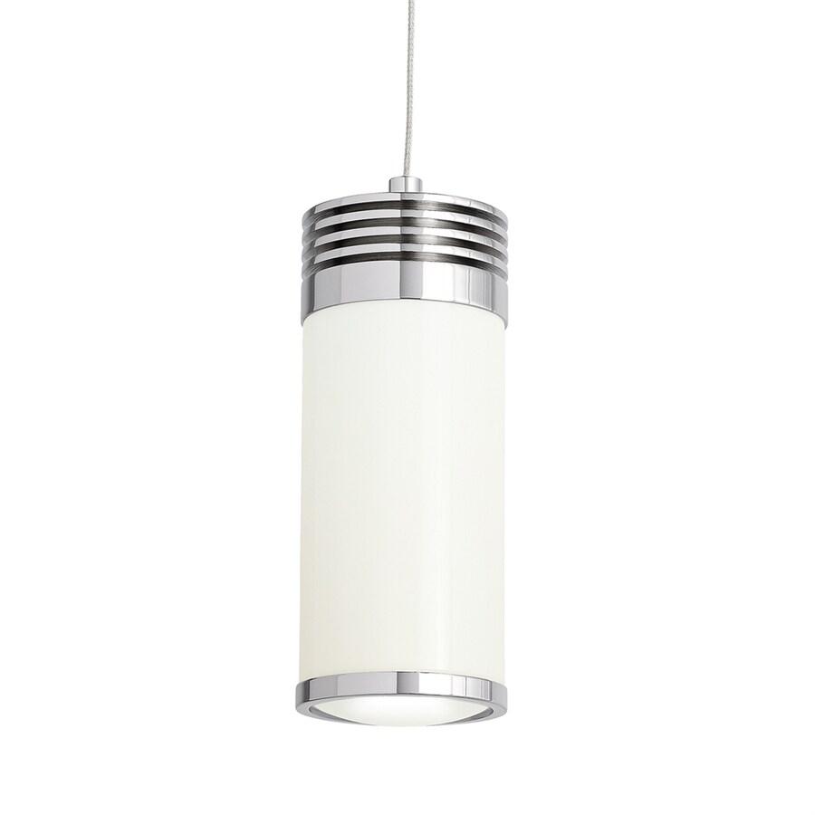 Elan Ava 2.83-in Brushed Nickel Mini Cylinder LED Pendant