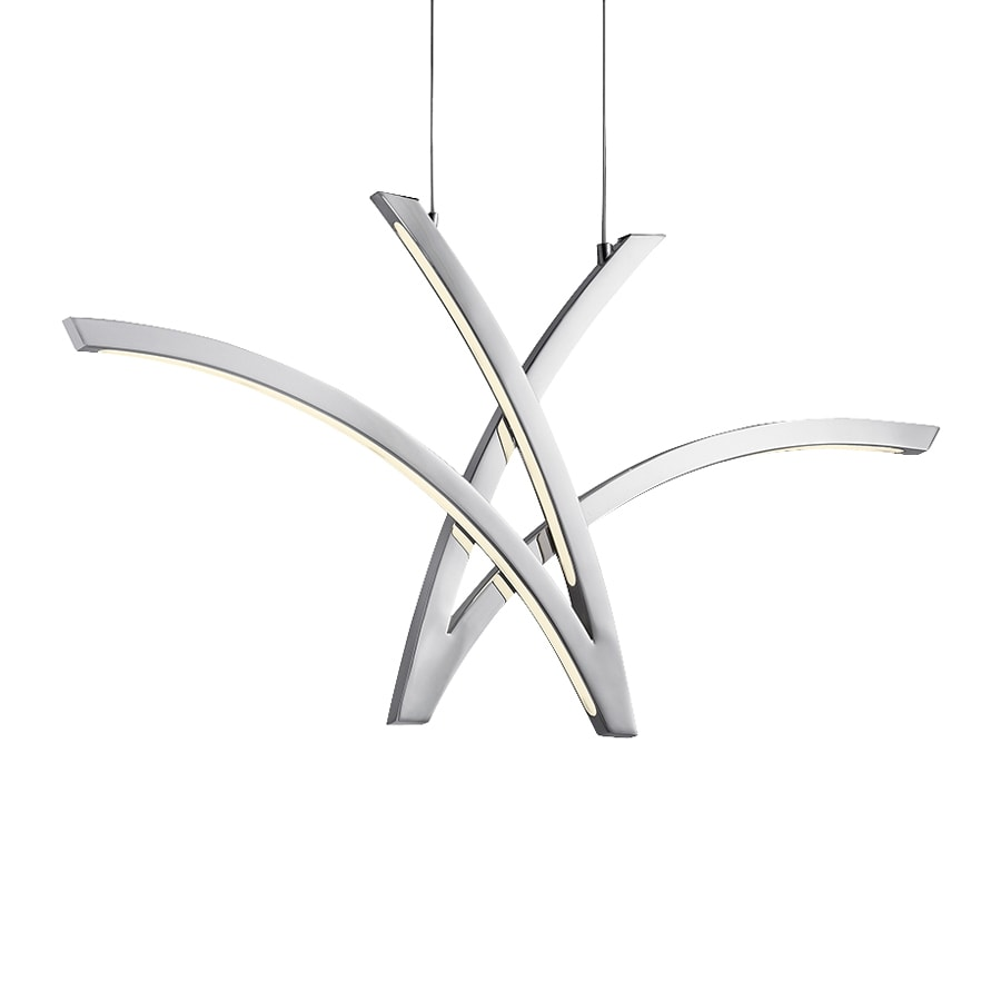 Elan Zara 2-in Chrome Geometric LED Pendant