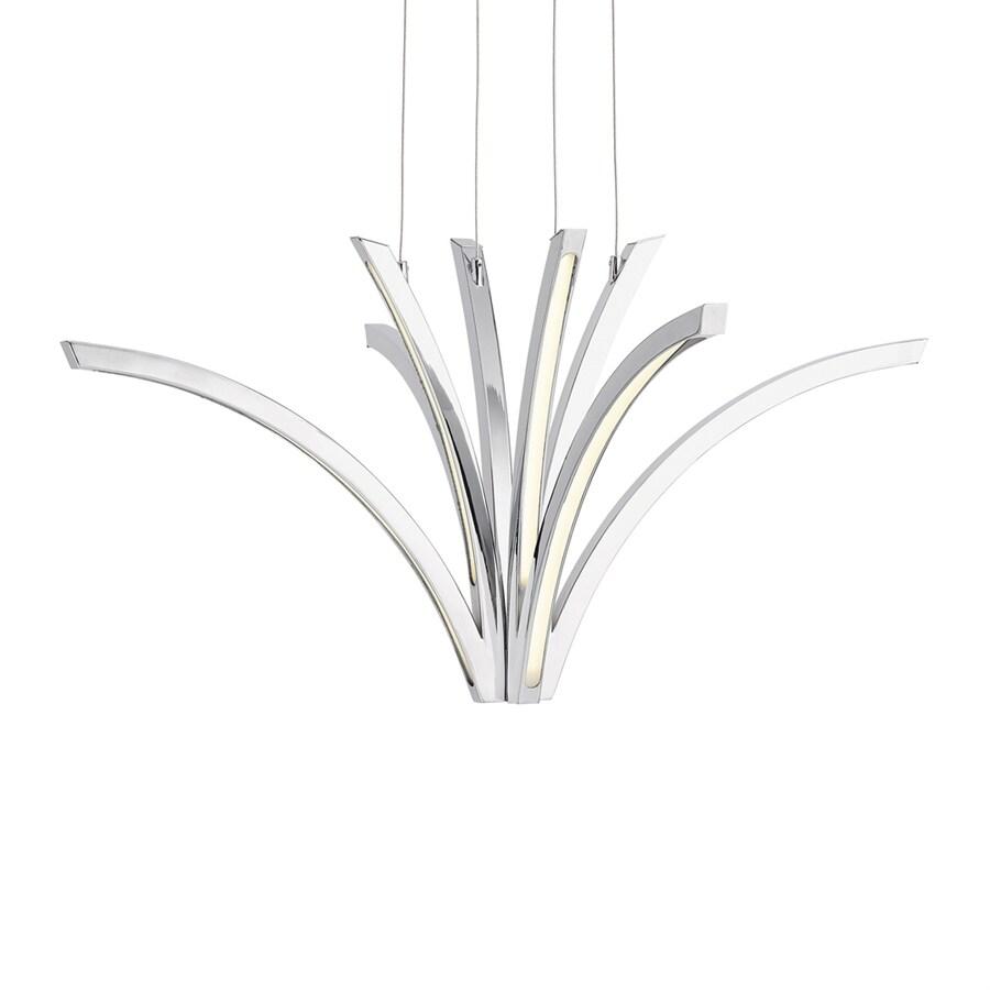 Elan Zara 38.07-in Chrome Geometric LED Pendant