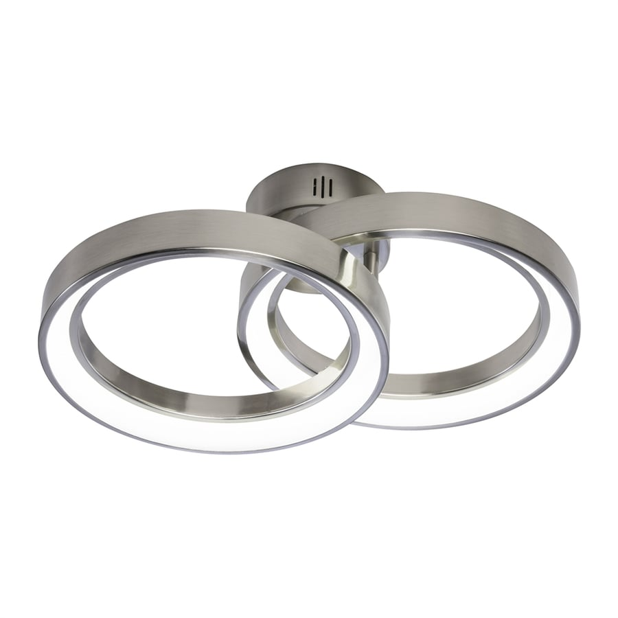 Elan Fornello 13.78-in W Brushed Nickel Metal Semi-Flush Mount Light
