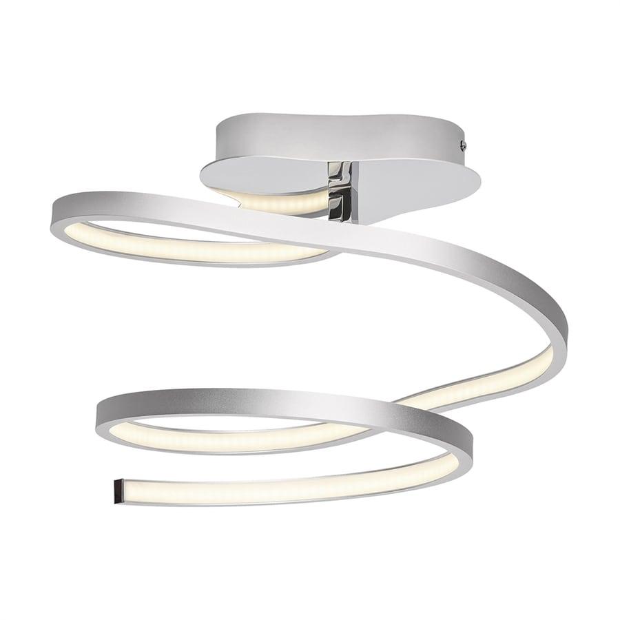 Elan Tintori 17.48-in W Oxidized silver Acrylic LED Semi-Flush Mount Light