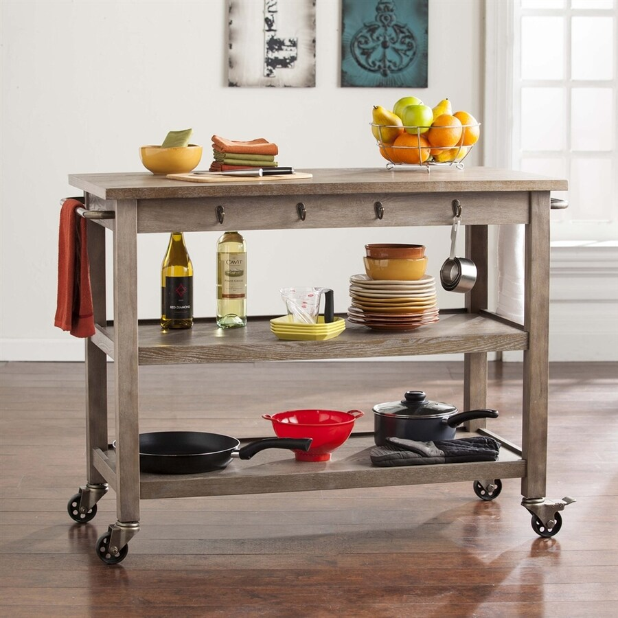 Alera Industrial Kitchen Carts At Lowes Com: Boston Loft Furnishings 46.5-in L X 27-in W X 34.25-in H