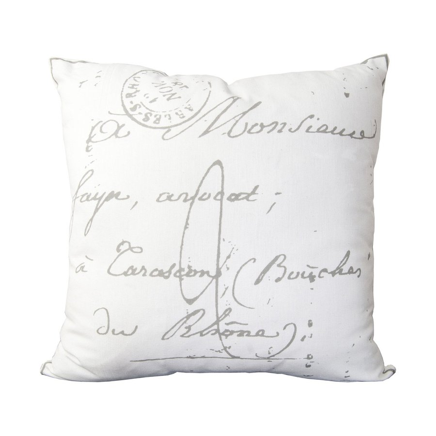 Surya Marseilles 22-in W x 22-in L White Square Indoor Decorative Pillow
