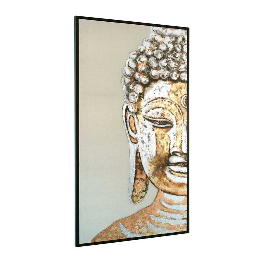 Gild 35-in W x 71-in H Framed Canvas Serenity Original Painting Wall Art