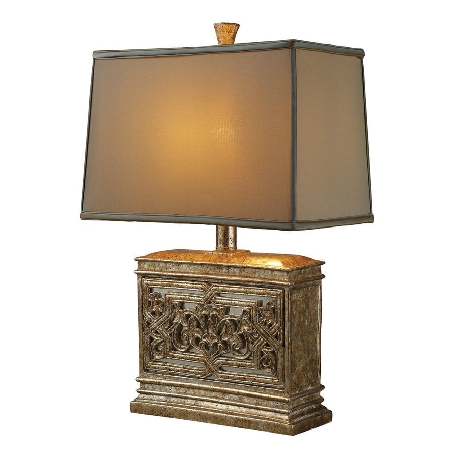 Dimond Home Laurel Run 24.5-in Courtney Gold  Electrical Outlet Table Lamp with Fabric Shade (Set of 1)