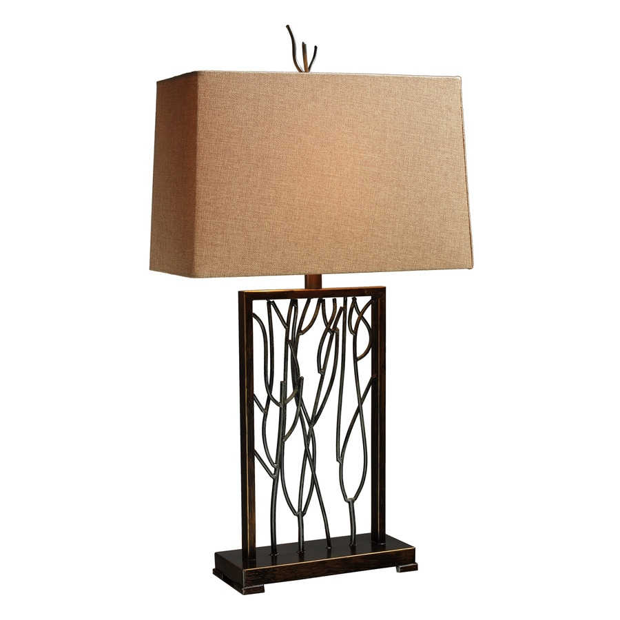 Dimond Home Belvior Park 33-in Iron  Electrical Outlet Table Lamp with Fabric Shade (Set of 1)