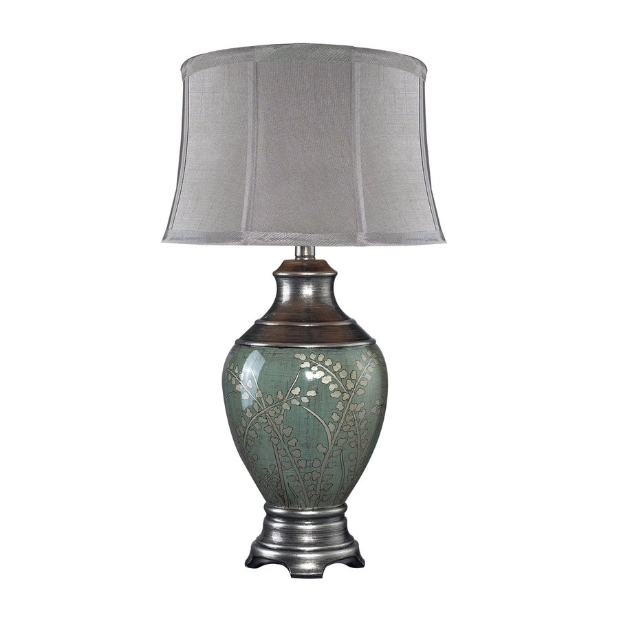 Dimond Home Chippendale 30-in 3-Way Switch Green Tone Indoor Table Lamp with Fabric Shade