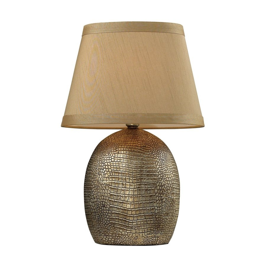 Dimond Home Gilead 21-in Meknes Bronze In-Line Table Lamp with Fabric Shade